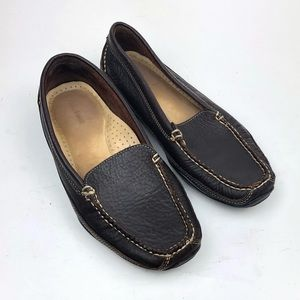 LL Bean | Brown Slip on Driving Moc Toe Loafer